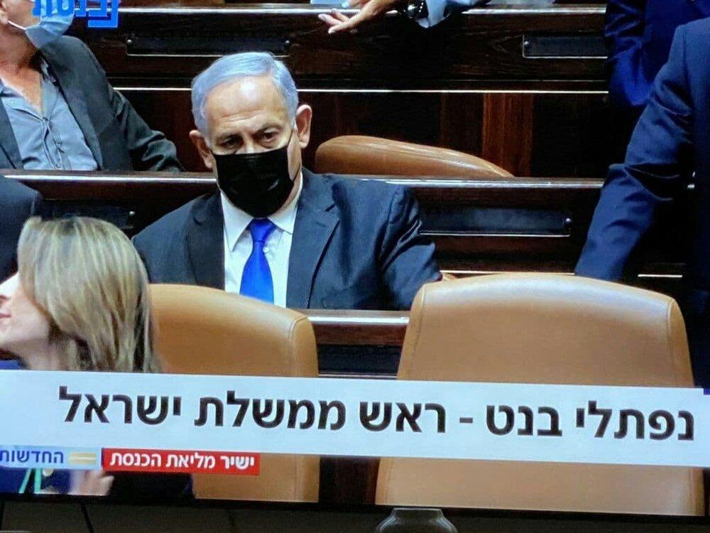 لحظه اعلام پایان نتانیاهو با این چهره درهم ریخته/عکس