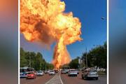 ببینید | لحظه انفجار وحشتناک یک پمپ بنزین در روسیه