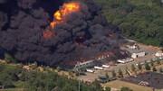 ببینید | آتشسوزی گسترده در یک کارخانه شیمیایی در آمریکا