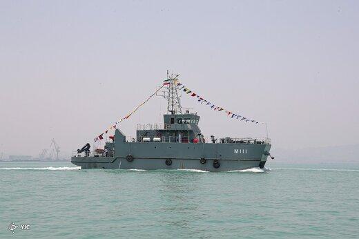 الحاق ناوشکن دنا و ناو مین شکار شاهین به نیروی دریایی
