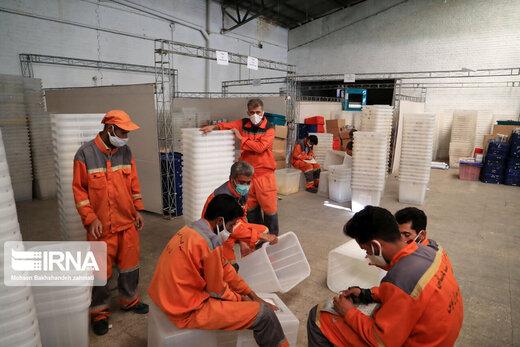 آماده سازی صندوقهای اخذ رای در فرمانداری مشهد