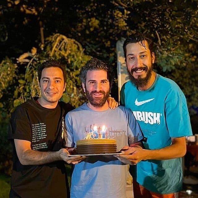 عکس   جشن تولد هوتن شکیبا با نوید محمد زاده و بهرام افشاری