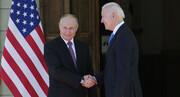 درگیری بین خبرنگاران در آغاز نشست بایدن و پوتین