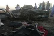 تصاویر | حادثه خونین در جاده سراوان به خاش/ ۶ نفر در آتش سوختند