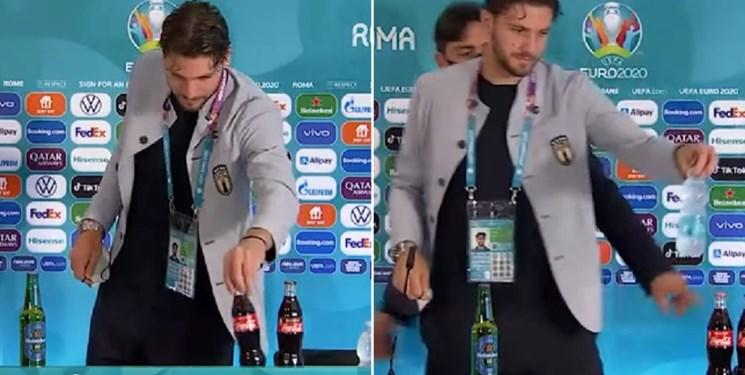 ستاره ایتالیا هم به کوکاکولا نه گفت/عکس
