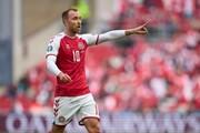 تشویق اریکسن در دقیقه 10 بازی دانمارک بلژیک/عکس