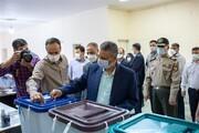 محسن هاشمی با دست شکسته رأی داد /احمد خاتمی پای صندوق آمد/ حضور فرمانده کل ارتش پای صندوق رأی+ تصاویر