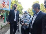عکس | ناصر همتی به همراه همسرش در پای صندوق رای