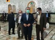 ببینید | حضور محسن رضایی در حرم حضرت عبدالعظیم برای رایدادن