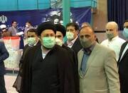 سیدحسن خمینی به حسینیه جماران رفت /عکسی از محمود واعظی و همسرش در پای صندوقهای رای