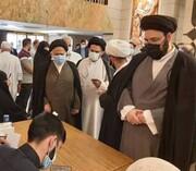 سیدعلی خمینی در نجف رأی خود را به صندوق انداخت+عکس