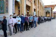 ببینید | صفوف دشمنشکنِ شیرازیها پای صندوق رای در شاهچراغ