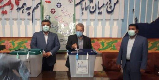 علی لاریجانی در ساری رای داد +عکس