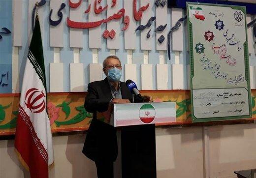 لاریجانی: با هیچ کاندیدایی دیدار انتخاباتی نداشتم /متعلق به مازندران هستم/قهر با انتخابات معنا ندارد