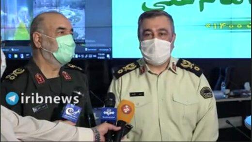 ببینید | فرمانده نیروی انتظامی: تا این لحظه گزارش امنیتی نداشتیم