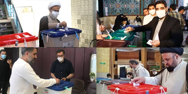 زاکانی: رئیس جمهور آینده باید به جماران بیاید و از در و دیوار آن درس بگیرد /مداحان معروف کجا رأی دادند؟ +تصاویر