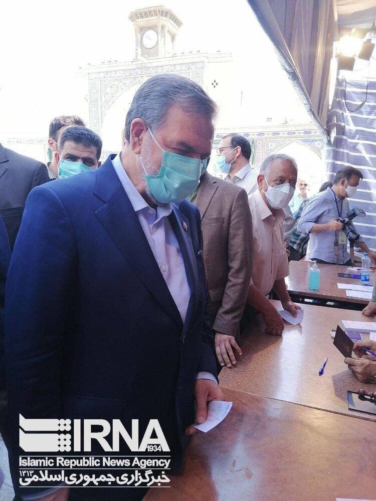 محسن رضایی رای خود را به صندوق انداخت+ عکس