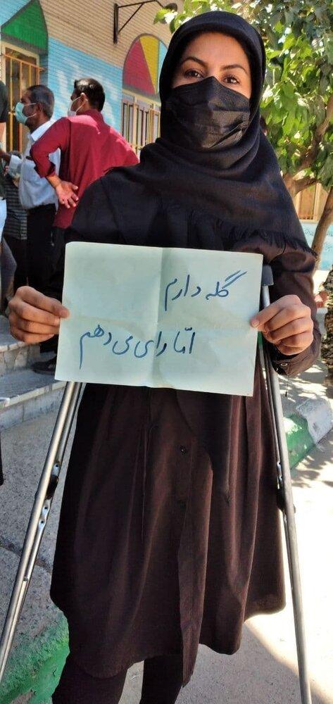 عکس   پیام مهم یک بانوی ایرانی؛ گله دارم اما رای میدهم