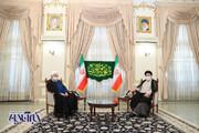 تصاویر | حضور روحانی در دفتر رئیسی پس از پیروزی در انتخابات ریاست جمهوری