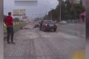 ببینید | تصادف شدید و هولناک با دوچرخهسوار در بزرگراه
