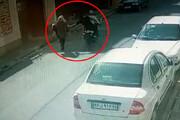ببینید | لحظه حمله وحشیانه 2 موتورسوار به زن جوان گلستانی