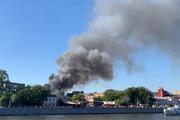 ببینید | آتشسوزی گسترده انبار نگهداری مواد شیمیایی در مسکو
