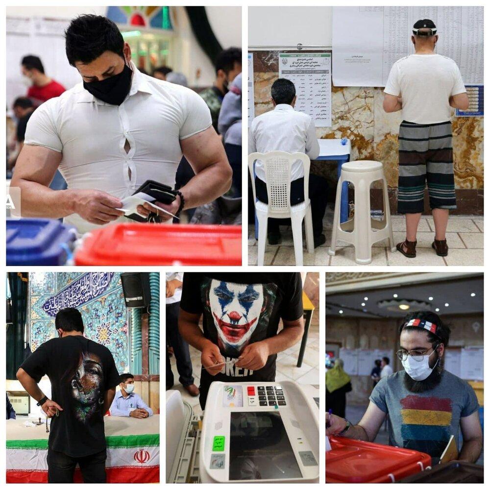 عکس | ظاهرهای متفاوت در انتخابات ریاست جمهوری ۱۴۰۰