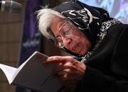 بانویی ادیب که نامش بر تابلوی خیابانی در تهران نشست/ عکس