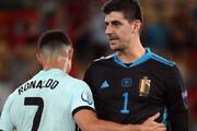 ببینید   مکالمه جالب کریستیانو رونالدو با دروازهبان بلژیک