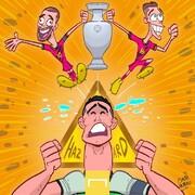 ببینید: پایان تلخ رونالدو در جام ملتهای اروپا!