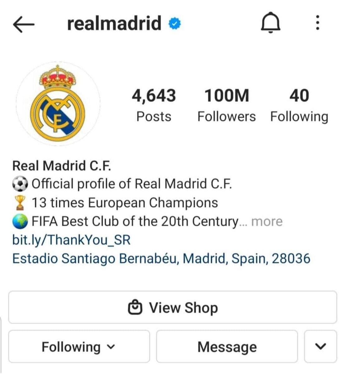 رکوردشکنی رئال مادرید در اینستاگرام/عکس