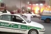 ببینید | آتشسوزی ترسناک در جایگاه سوخت بر اثر بیاحتیاطی موتورسیکلت