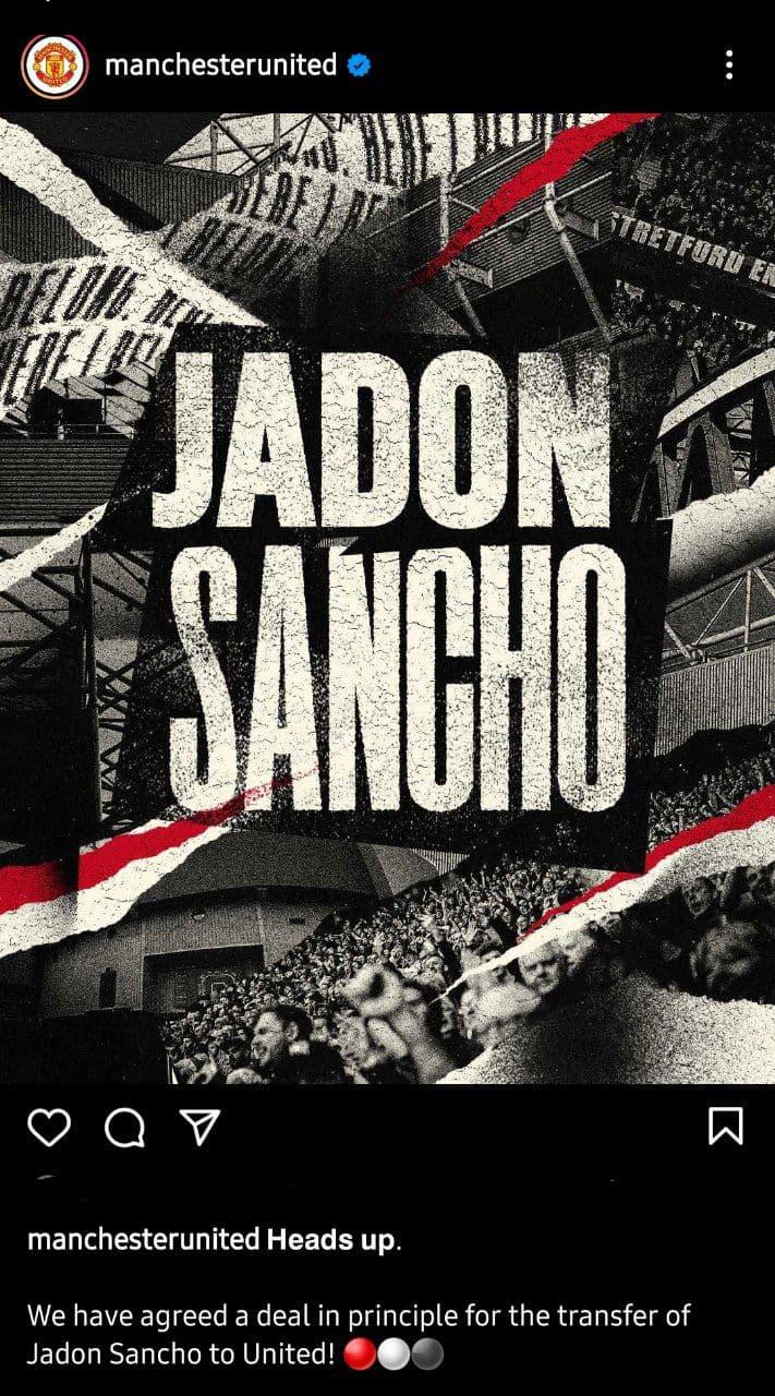 منچستریونایتد رسما سانچو را خرید/عکس