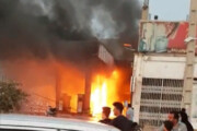 ببینید | لحظه هولناک آتشسوزی پمپ بنزین از نگاه دوربینهای امنیتی