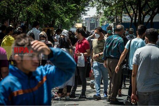 شلوغی بازار تهران در شرایط قرمز کرونا