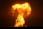 ببینید | انفجار آتشفشان در دریای خزر