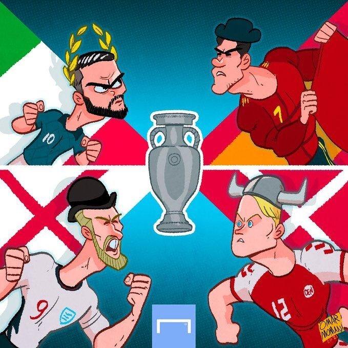 ببینید: چهار مدعی اروپایی برای یک جام!