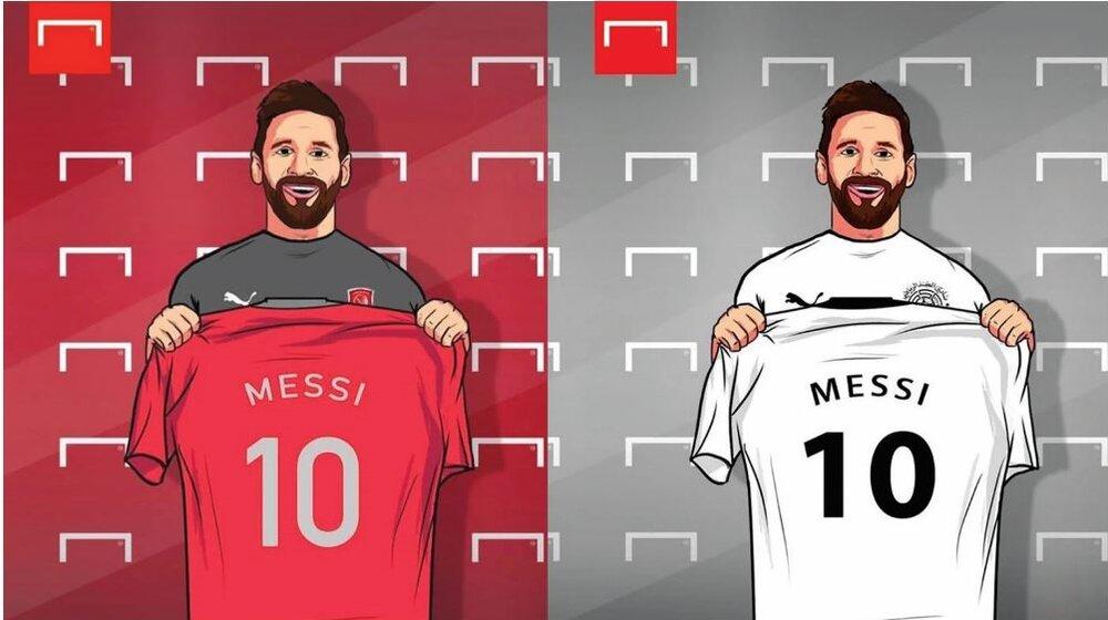 مسی پیراهن السد یا الدحیل را برتن میکند؟/عکس