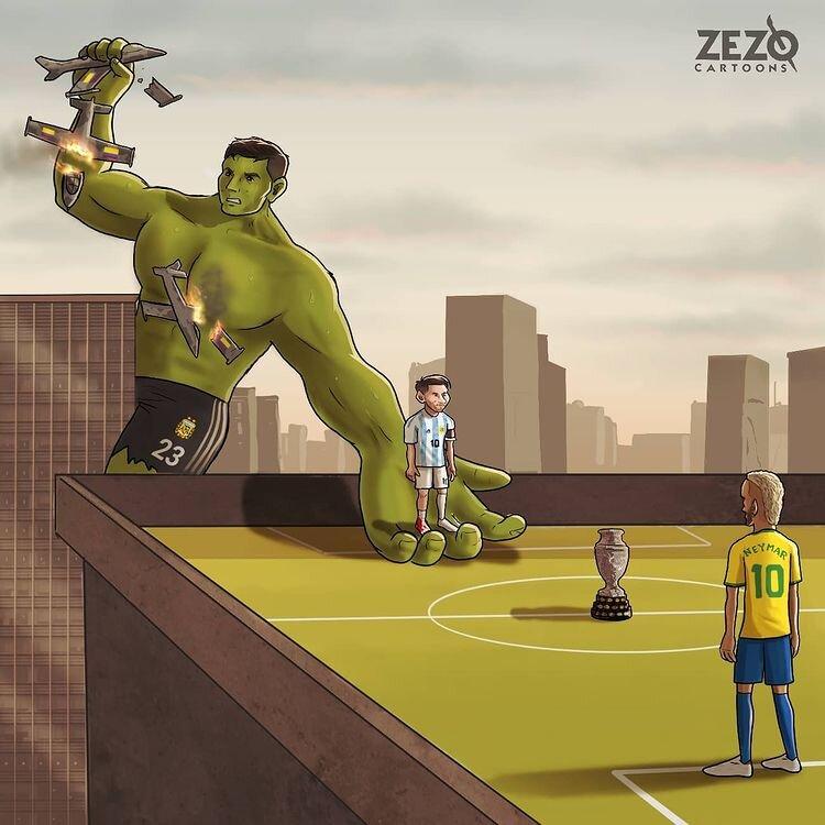ببینید: این بازیکن مسی را به فینال رساند!