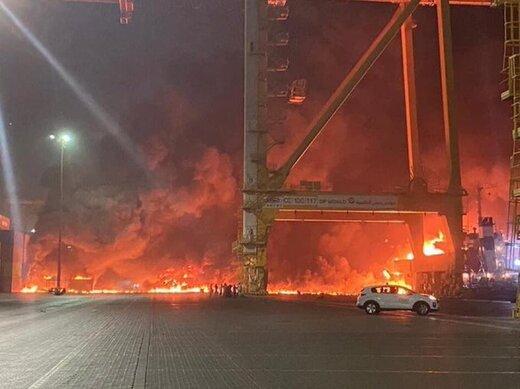 ببینید   نخستین ویدیو از داخل محل آتشسوزی و انفجار در بندر جبلعلی