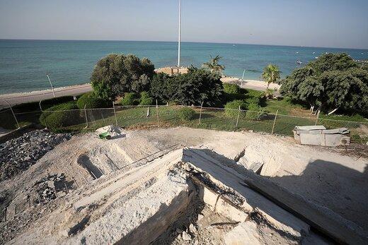 اجرای طرح بهسازی کاخ مرجان کیش بعد از ۴۶ سال