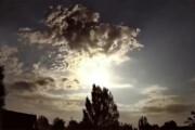 ببینید | شکار لحظه انفجار استثنایی شهابسنگ در برخورد با جو زمین!