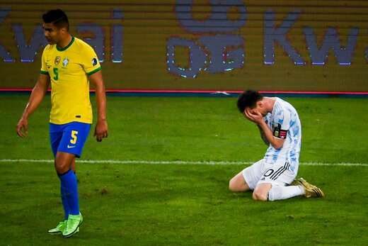 لحظه ای که خدا به لیونل مسی رحم کرد!/عکس