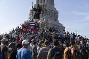 تصاویر | تظاهرات کوبا؛ اعتراض به قطع برق، شیوع کرونا و نبود واکسن