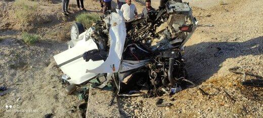 ۴ مصدوم در اثر واژگونی خودرو سمند در محور آبادان به ماهشهر
