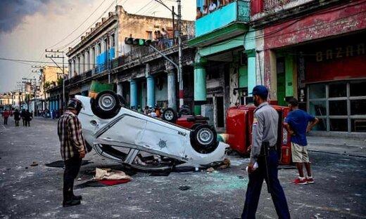 تظاهرات کوبا؛ اعتراض به قطع برق، شیوع کرونا و نبود واکسن