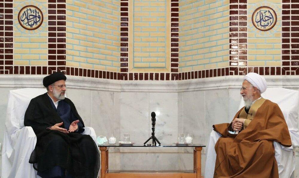 دیدار ابراهیم رئیسی و آیتالله جوادی آملی +عکس
