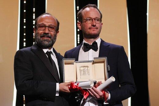 لحظهای که اصغر فرهادی جایزه بزرگ «کن» را برد
