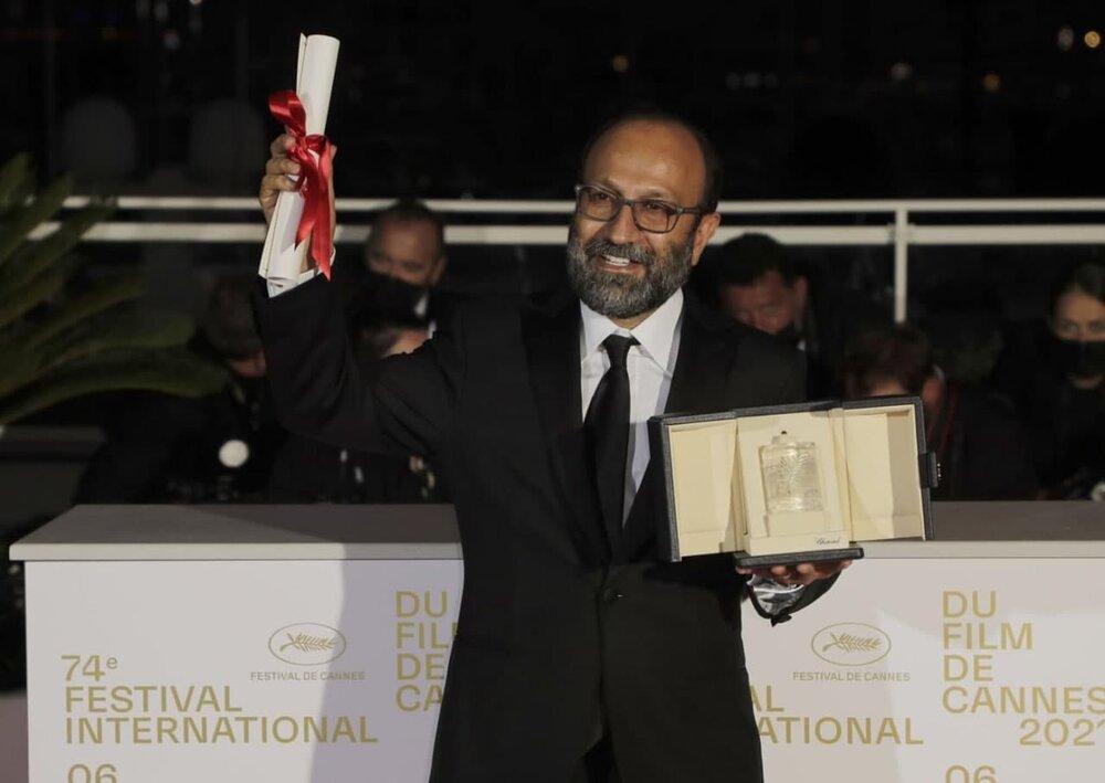 تصاویر   لحظهای که اصغر فرهادی جایزه بزرگ «کن» را برد