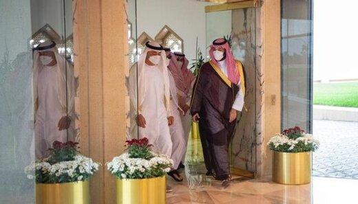 استقبال بنسلمان از ولیعهد ابوظبی در ریاض